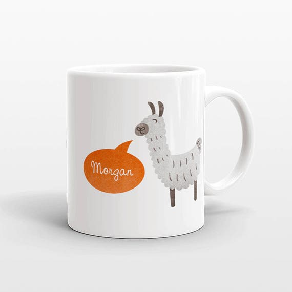 Custom Name Mug, Llama Mug, Personalized Gift, Alpaca Mug, Personalized Mug, Unique Coffee Mug, Llama Gift Best Friend Gift, Birthday Gift