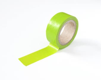 Lime Green Washi Tape, 15mm x 5m