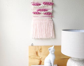 Wall Tapestry art, Handwoven wall hanging, nursery decor, baby girl gift baby shower gift, home decor, boho decor wall art modern wall decor