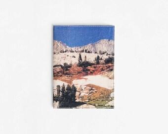 Travel Wallet, Vegan Passport Cover, Blue Passport Holder, Gift For Travelers, Travel Organizer, Canvas Passport Sleeve, Passport Wallet