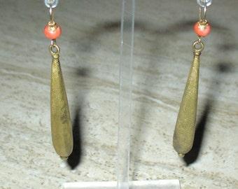 Victorian Pinchbeck Earrings, 1800s Earrings, 1900s Dangle Earrings, Edwardian Earrings, 1900s Jewelry, Pinchbeck Antique  Drop Earrings