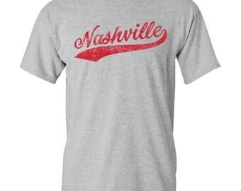 Nashville City Script T-Shirt - Sport Grey