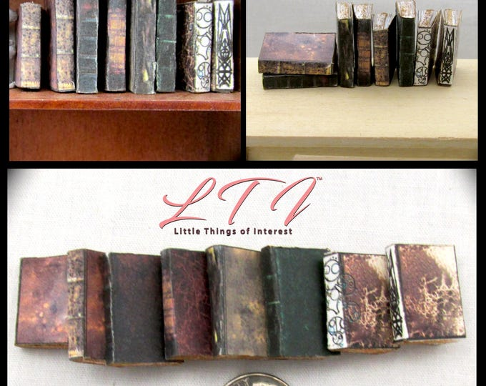 8 ANCIENT JEDI TEXT Books Set 1:12 Scale Miniature Dollhouse Prop Faux Books The Last Jedi, Return of the Jedi, Star Wars