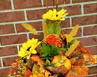Fall silk arrangement home decor