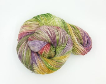 Pansy Piquancy Superwash Merino Fingering Weight Hand Dyed Yarn
