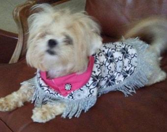Diva Dog Reversible Poncho: Quality, Custom, All Season, Lightweight Dog Coat