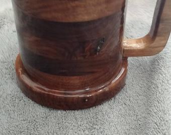30 OUNCE  Walnut Beer Mug Tankard