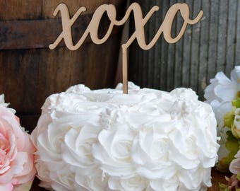XOXO Valentines Cake Topper, Hugs And Kisses, Love Cake Topper, Valentines Day Decor, Valentines Gift, Gift For Him