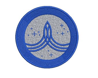 """Machine Embroidery Design Instant Download - The Orville """"Planetary Union"""" Command Insignia"""
