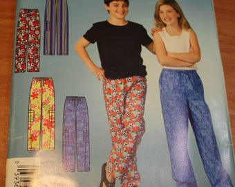 Simplicity Its So Easy 4039 Girls and Boys Sleep Pants Sewing Pattern Size A 7-16