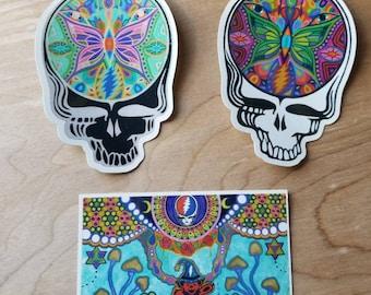 Grateful Dead Sticker Pack Steal Your Face / Dancing Bear