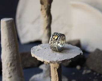 Silver art deco ring citrine art deco,silver art nouveau ring,silver filigree citrine,filigree silver jewelry,art deco classical ring, boho