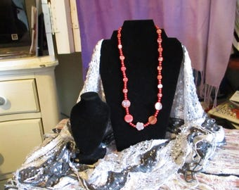 Orange and Coral Necklace