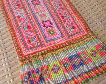 Handmade Ethnic Clothing Patch delicate embroidery Hmong Hilltribe craft supplies