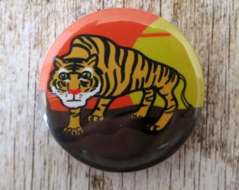 Tiger  25mm ( 1 inch) animal badge button