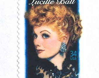 10 Unused I Love Lucy Postage Stamps // Lucille Ball Stamps // Classic Television Actress // Vintage Postage Stamps for Mailing