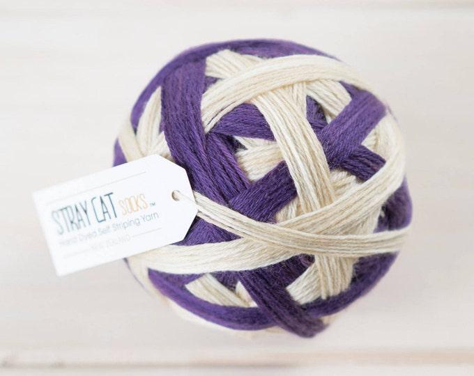 DIVINE - hand dyed self striping sock yarn 75/25 superwash merino/nylon