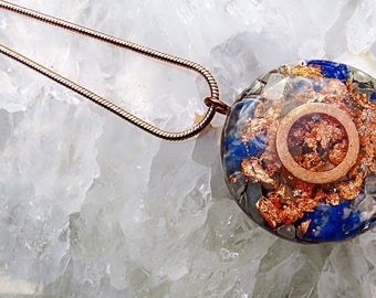 Powerful Orgone Pendant - Moonstone/Lapis Lazuli/Hematite/Carnelian/Sodalite - FREE WORLDWIDE SHIPPING!