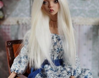 Alpaca wig Popovy Sisters doll. Enchanted Doll. Made to order