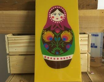 Russian Nesting Doll Matryoshka Canvas Wall Art