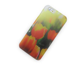 Red Yellow Field of Tulips Phone Case iPhone 6, iphone 7, iphone SE, iphone 7 Plus, Galaxy S8, Note 5, iphone 6 plus, iphone 6s, iphone 5