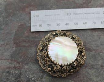 Large Round Vintage Brooch