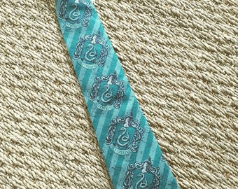 Harry Potter Slytherin House Fabric Hand Made Tie.