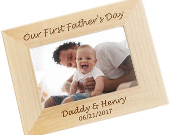 First Fathers Day Gift, SHIPS FAST, Personalized Fathers Day Frame, Gift for Dad, Grandpa, New Dad Gift, Custom Picture Frame WF25