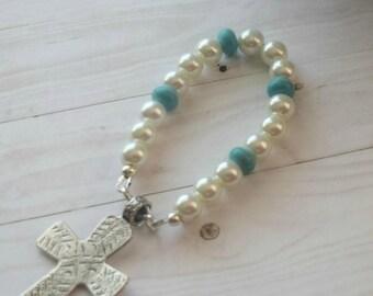 Prayer Cross, Meditatian Beads, First Communion Gift, Meditation Prayer, , Comfort Cross, Meditation Cross,
