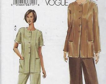 Very Easy Vogue 7753  Misses'/ Misses' Petite Tunic And Pants  Size (8-12)  UNCUT