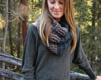 Crochet Pattern Cowl Scarf PDF: The Ayla Cowl