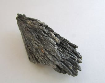"""Black Kyanite Crystal Specimen - Raw Black Kyanite """"Wing"""" from Brazil - Rough Raw Crystals and Stones Loose"""