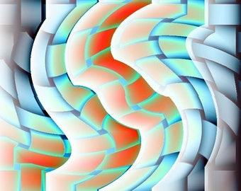 Abstract Art ' Water Snake Print'Size 8x10 Home Decor/Office Art2323