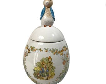 Beatrix Potter Covered Candy Dish - Peter Rabbit Egg Candy Dish