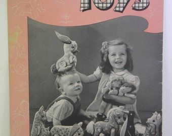 First Edition Easy-to-Sew Toys. It was published in 1944 by Clark's O.N.T. – J. &  P. Coats  Book No. S-14.  - Free Shipping domestic USA
