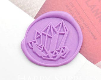 Buy 1 Get 1 Free - 1pcs Crystal stone Gold Plated Wax Seal Stamp (WS390)