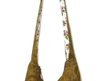 boho chic hobo bag, boho bag, bohemian bag, avocado green purse, hippie bag with zipper, bucket bag, hipster bag, 70s style purse bag