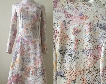 vintage 60's GOLDWORM PSYCHEDELIC midi DRESS - small