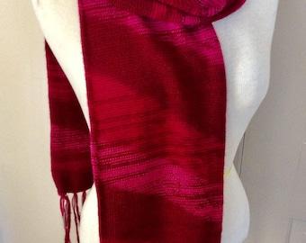 Unisex style alpaca fiber scarf,soft and hypoallergenic,My Peruvian Treasures,two layers light weight,geometric pattern alpaca scarf