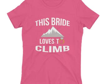 Funny Bachelorette Party Gift for Hiking Women's short sleeve t-shirt Bride to Be Hiker Hike Engagement Gift