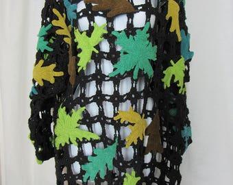 Vintage Michael Simon for Henri Bendel Macrame Open Weave Tunic Sweater One Size