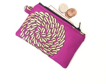 Coin pouch, Change Purse, small coin purse, coin wallet for women, small coin purse, zip coin purse, mini coin purse, cowrie african