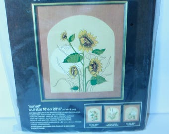 "Vintage Bucilla Needlecraft Kit 48517 Sunset 18.5"" x 22.5"" Sealed Made in the USA!"