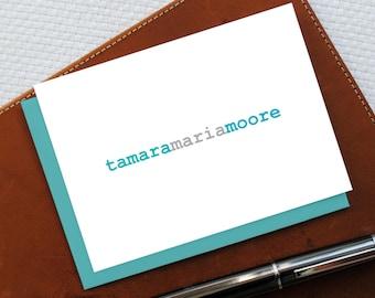 Personalized Stationery, Monogram Stationery, Personalized Note Cards, NAME MONOGRAM Stationery Set, Custom Cards, Best Friend Gift, MNC030