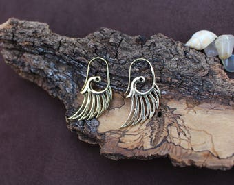 Wings Earrings, Tribal Jewelry, Ethnic Earrings, Boho Chic Earrings, Brass Earrings, Festival Earrings, Belly Dance, Boucles d'oreille Ailes