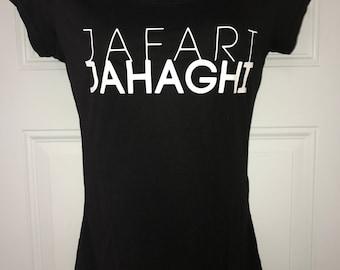 Women's Black T-shirt, Jafari Jahaghi