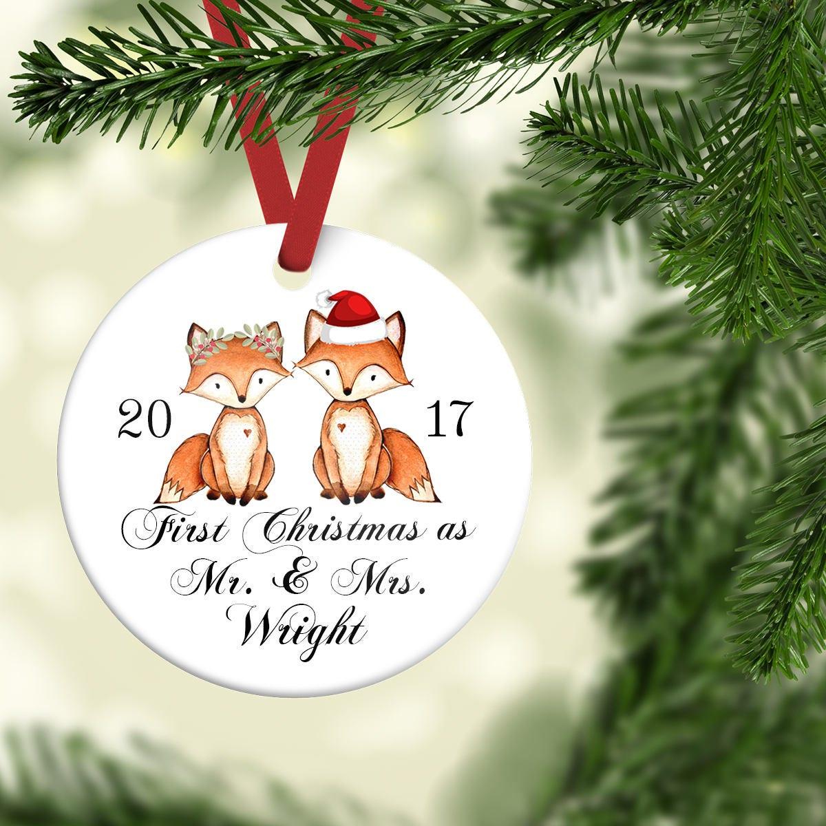 First Christmas as Mr and MrsNewlywed Ornament Personalized