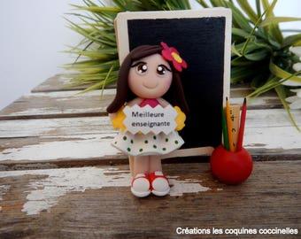 Cadeau professeur, enseignant,teacher gift,cadeau personnalisé,cadeau prof, Personalized Teacher Ornament, porte-photo, professeur ,école