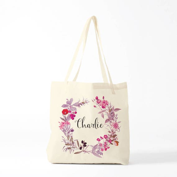 Custom tote, canvas bag, Charlie, gift coworker, novelty gift, gift woman, gift sister, change the name.