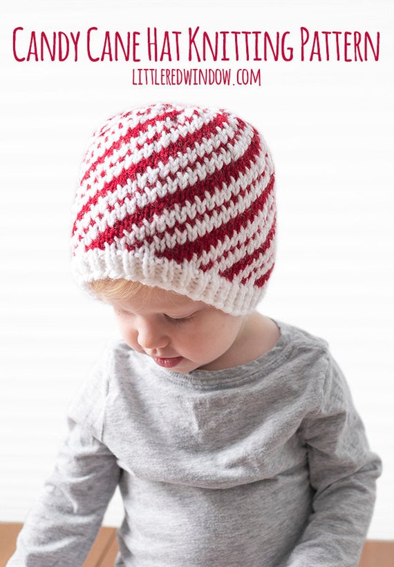 Baby Candy Cane Hat KNITTING PATTERN / Candy Cane Pattern /
